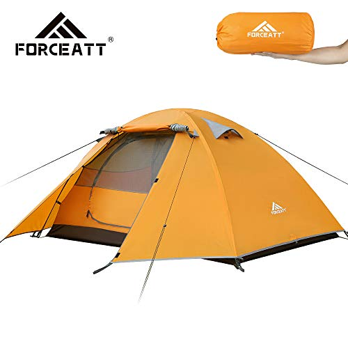 Forceatt 2 Person Camping Tent, Professional Waterproof and Windproof and Pest Proof. Lightweight Backpacking Tent Suitable For Hiking, Outdoor, Mountaineering and Travel