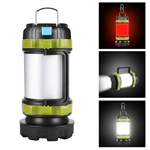 AlpsWolf Camping Lantern Rechargeable Camping Flashlight 4000mAh Power Bank,6 Modes, IPX4 Waterproof, Led Lantern Camping, Hiking, Outdoor Recreations, USB Charging Cable Included