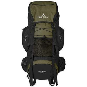 TETON Sports Scout 3400 Internal Frame Backpack; High-Performance Backpack for Backpacking, Hiking, Camping; Hunter Green (121)