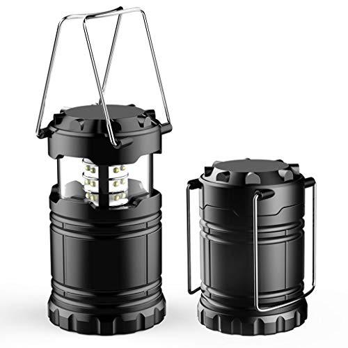 Fullfun 2pcs Outdoor Portable Lantern Collapsible Tent Lamp Waterproof Outdoor Camping LED Hiking Light