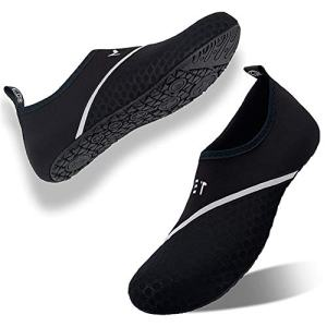 YALOX Water Shoes Swim Shoes Water Socks Women's Men's Beach Swimming Aqua Socks Quick-Dry Shoes Surfing Yoga Pool Exercise(DXB-Black 4041)