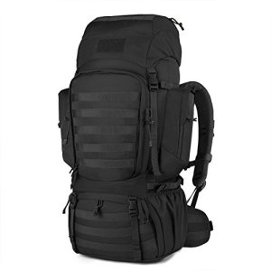 Mardingtop 60L Internal Frame Backpack Tactical Military Molle Rucksack for Camping Hiking Traveling with Rain Cover, YKK Zipper YKK Buckle Black-6226