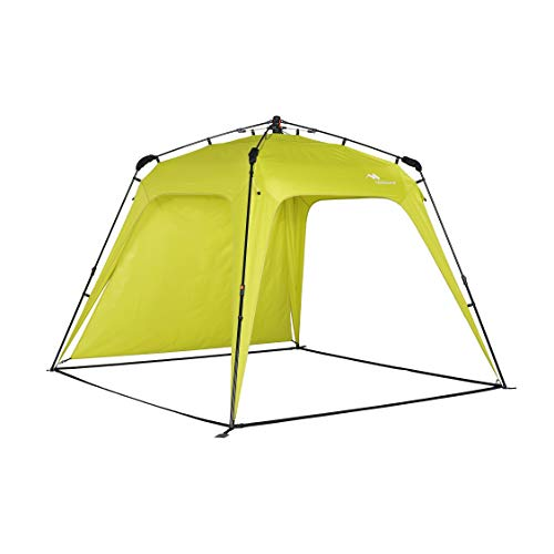 Mobihome Beach Canopy Sun Shelters Shade Tent Pop Up 8.2' X 8.2' - Instant Portable Sports Cabana Umbrella, Easy Set-up and Take Down, with Sun Protection and One Shade Wall Included