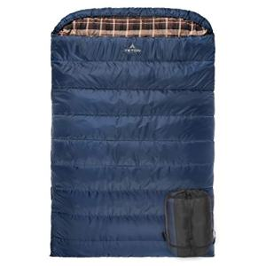 TETON Sports Mammoth +20F Queen-Size Double Sleeping Bag; Warm and Comfortable for Family Camping