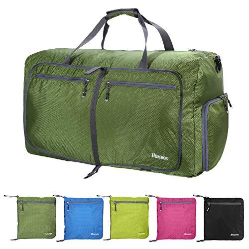 80L Foldable Duffle Bag,Large Luggage Bag,Lightweight Waterproof Gym Duffel Bag,Camping Duffle Bag(Dark Green)