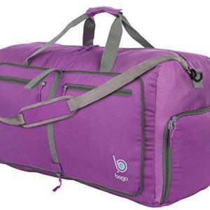 """Bago 80L Duffle Bag for Women and Men - 27"""" Travel Bag Large Foldable Duffel bag (Purple)"""