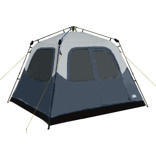 Pacific Pass Camping Tent 6 Person Instant Cabin Family Tent, Easy Set Up for Camp Backpacking Hiking Outdoor, Navy, 120.1108.376.8 inches