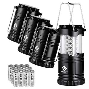 Etekcity Lantern Camping Lantern Battery Powered Lights for Power Outages, Home Emergency, Camping, Hiking, Hurricane, A Must Have Camping Accessories, Portable and Lightweight, Batteries Included.