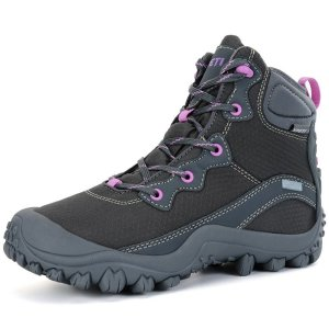 XPETI Women's Dimo Mid Waterproof Hiking Outdoor Boot Camping Terrain Fishing Shoe Gray 9