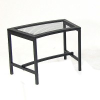 Black Mesh Patio Fire Pit Bench