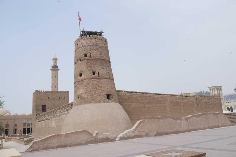 Het Dubai museum is een oud lemen fort en was al een museum toen ik in Dubai opgroeide.