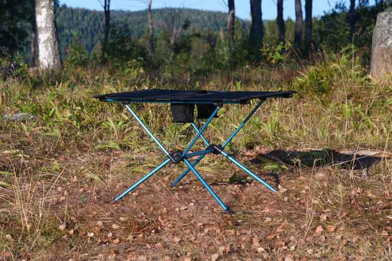De Helinox Table One is een al een eenvoud.