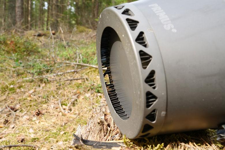 Onder de Primus PrimeTech Stove Set 2.3 L zit de ring die voor optimale energie overdracht zorgt.