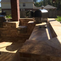 Outdoor Kitchen Oven Red Aid Mixer Pergola Firepit Heat Up Houston Patio