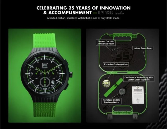 Glock to Release Limited Edition Watch for 35th Anniversary