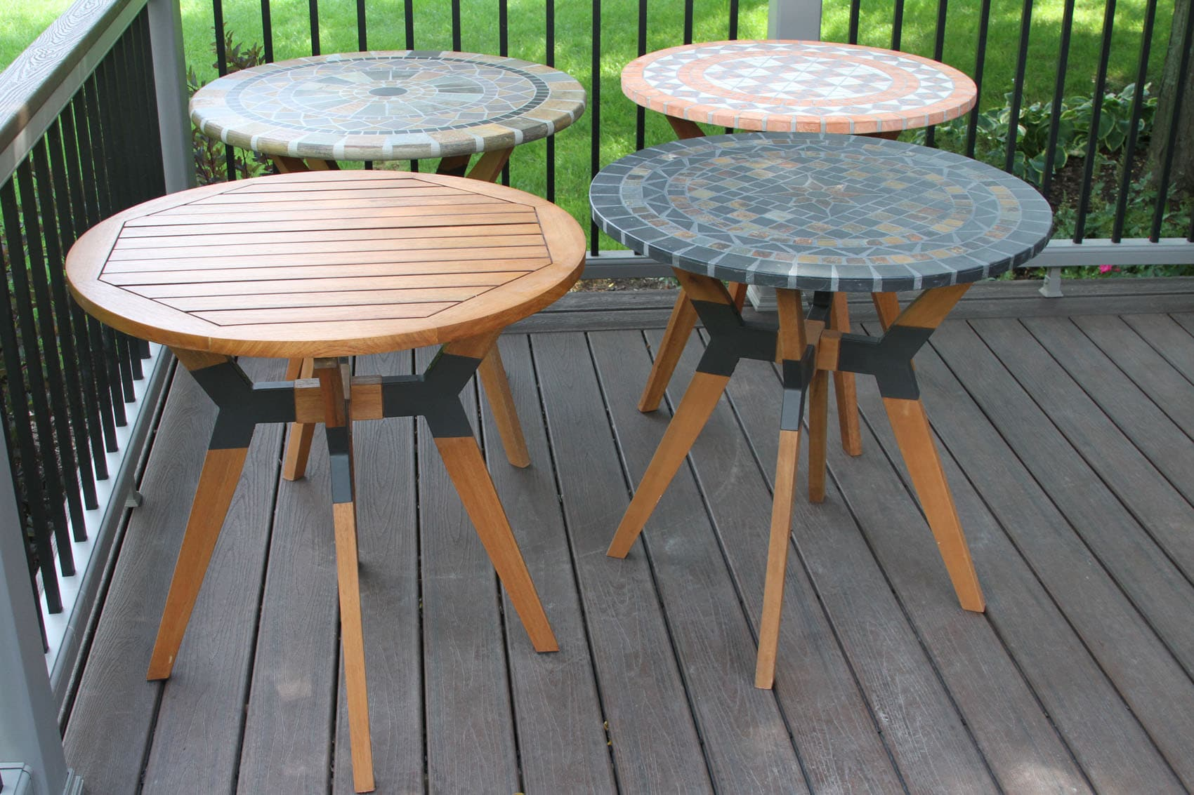 30 sandstone mosaic bistro table top