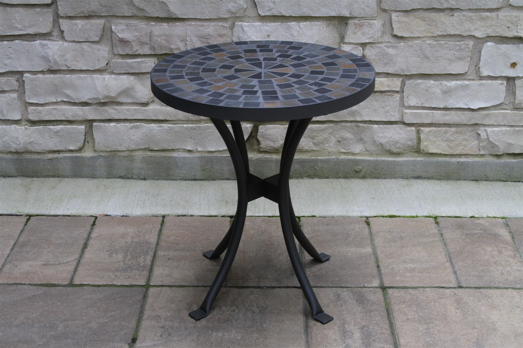 18 slate mosaic accent table for decks