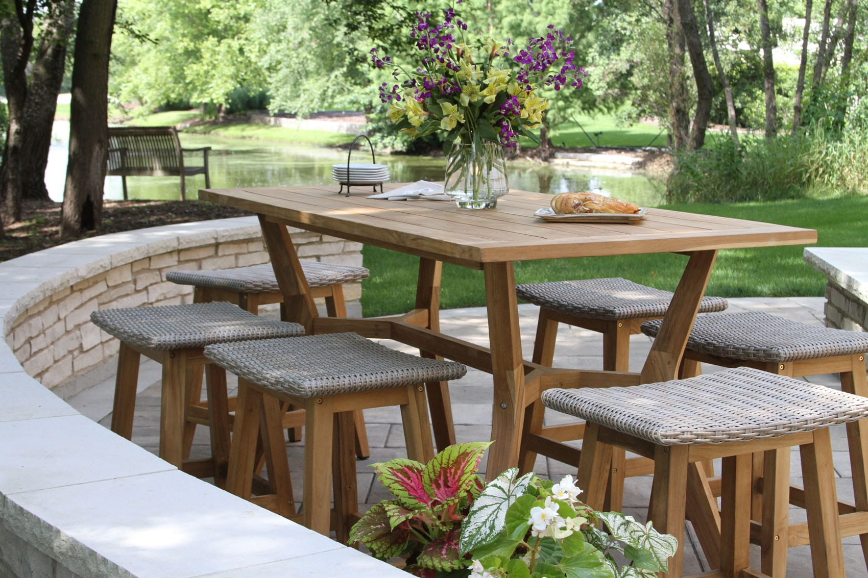 counter height patio table