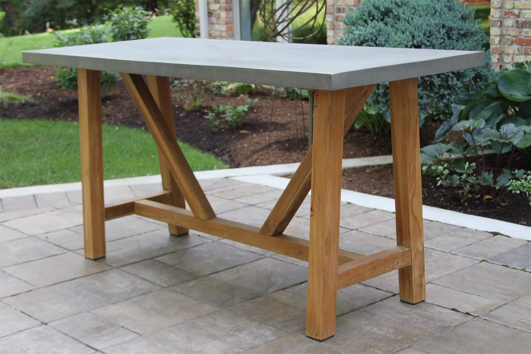 composite balcony height dining table