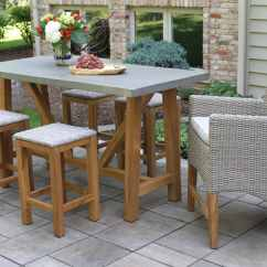 Teak Bar Table And Chairs Glider Chair Ottoman Hardwood Ash Wicker Outdoor With Cushion