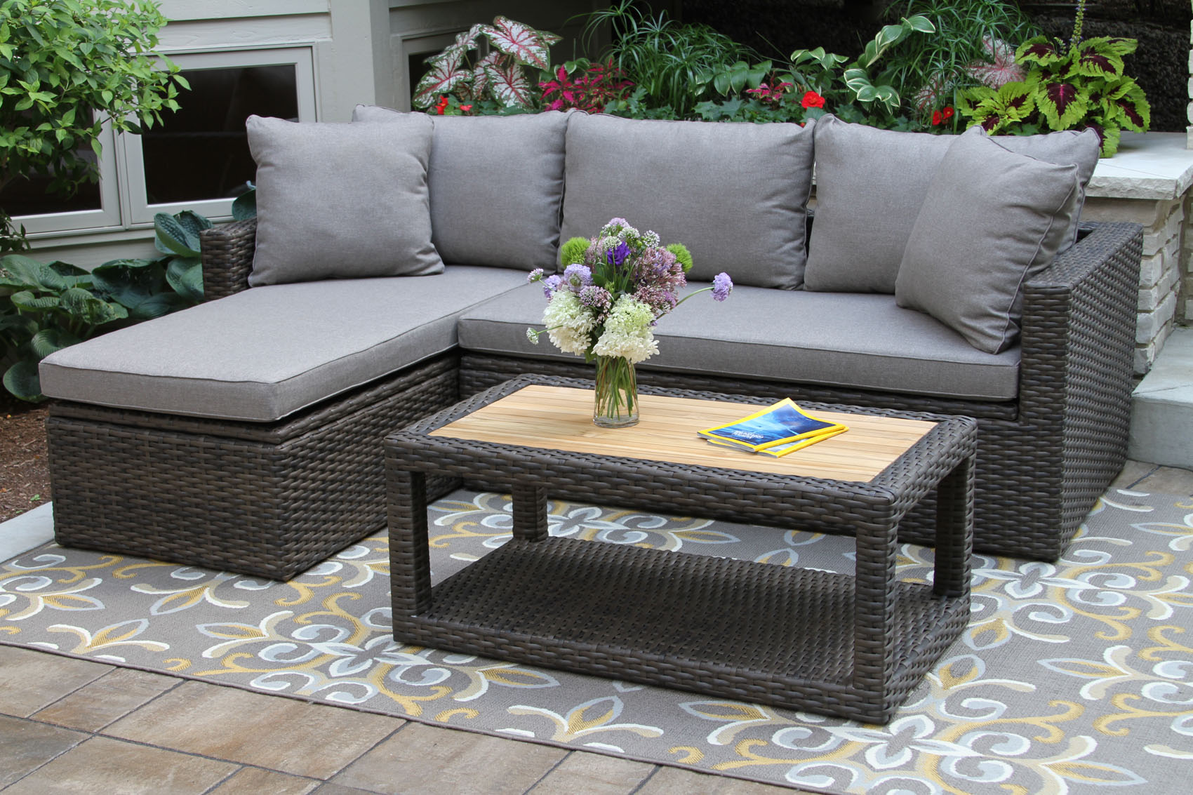 outdoor sofa set corner bed with storage clearance home the honoroak