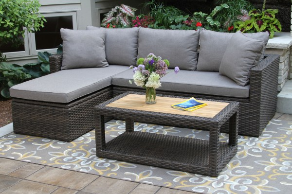 20 Fabric And Teak Outdoor Sectional Pictures And Ideas On Meta