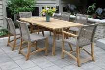 Nautical Teak Hardwood Outdoor Rectangle Dining Table