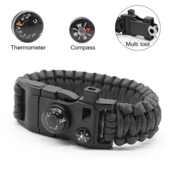 PAlight Outdoor 15 in 1 Survival Rescue Rope Bracelet
