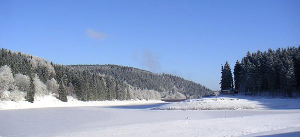 Oberhof Camping Lütsche Stausee Winter