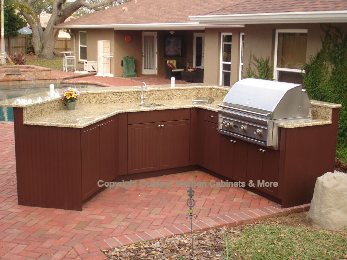 outdoor kitchen cabinets polymer food storage more exposed to the elements