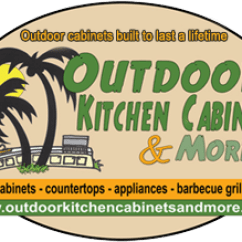 Outdoor Kitchen Cabinets Polymer Island Seats More