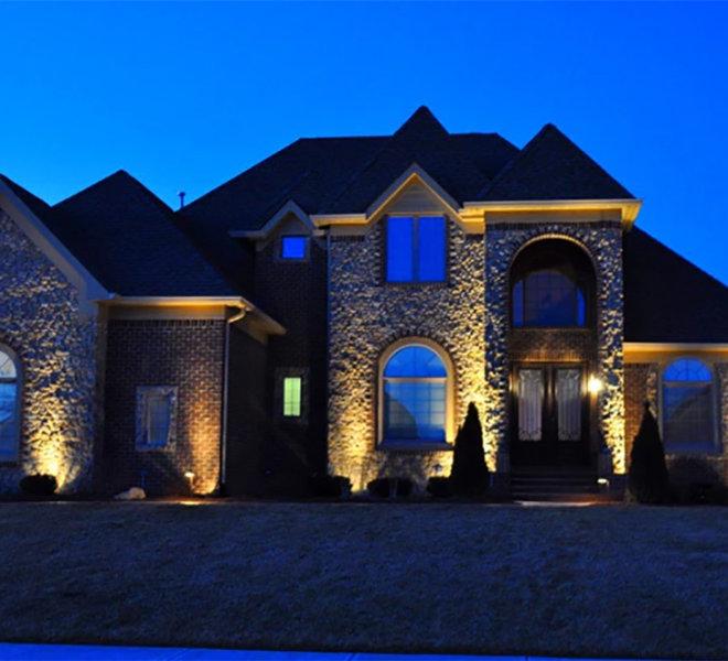 home exterior uplights