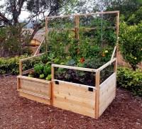Garden Trellis   Raised Gardening Bed 6'x3' Trellis-Lid ...