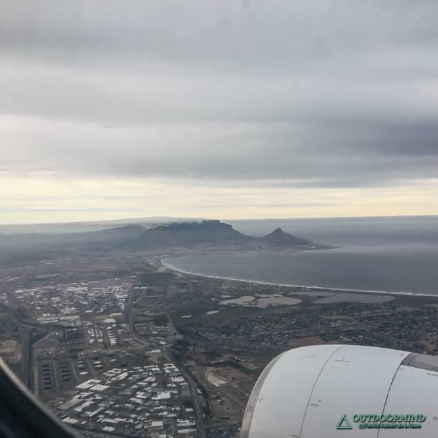 Landeanflug Kapstadt mit Tafelberg Blick