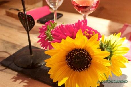Blumen Deko in der Gaststube