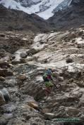 Geschliffene Felsplatten auf den Branca Trails
