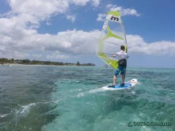 Patrick beim Windsurfen