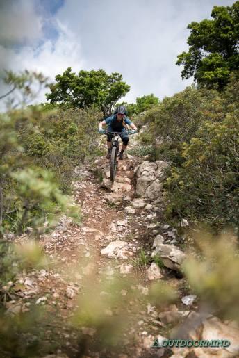 Downhill Passagen in Baunei auf Sardinien