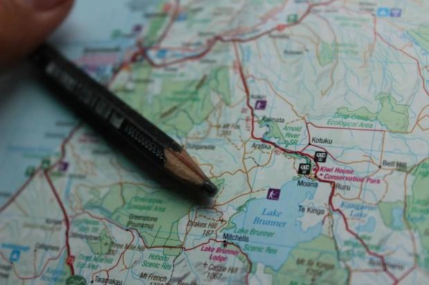 Landkarte Bucket Liste