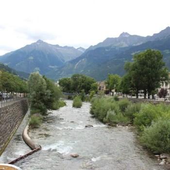 Blick Meran Alpenüberquerung