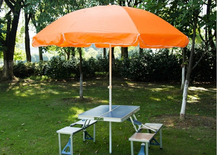 Large Waterproof Garden Umbrella With Table With 210D High
