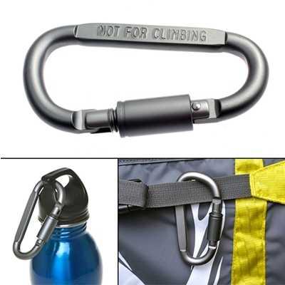 ODP 0197 8cm Screw Lock Carabiner grey