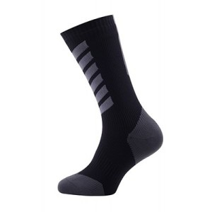 Sealskinz MTB Mid Mid with Hydrostop Socks M anthracite charcoal black