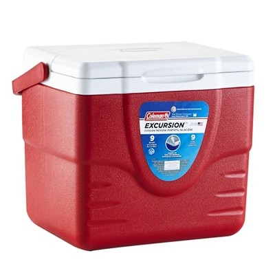 Coleman Personal 9QT Excursion Cooler red