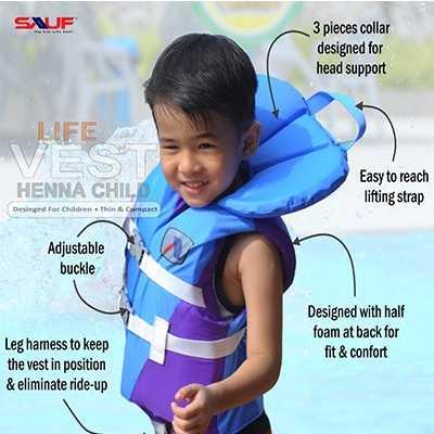 Sauf ODP 0306 Henna Life Vest sky