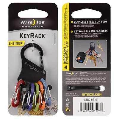 Nite Ize S-Biner Keyrack black