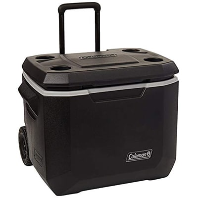 Coleman Cooler 50QT Xtreme Wheeled black grey