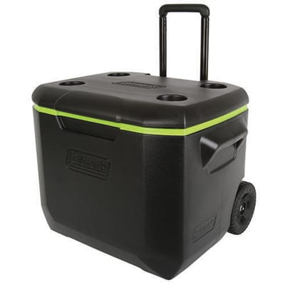 Coleman Cooler 60QT Wheeled black green