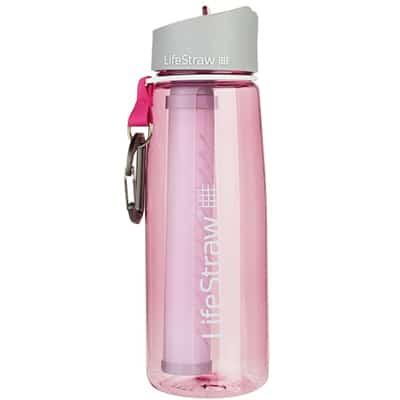 Lifestraw Go Bottle 2-Stage Filtration pink