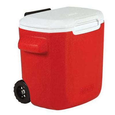 Coleman Cooler 16QT Wheeled red